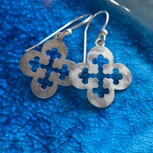 Holly Yashi Silver Clover Earrings